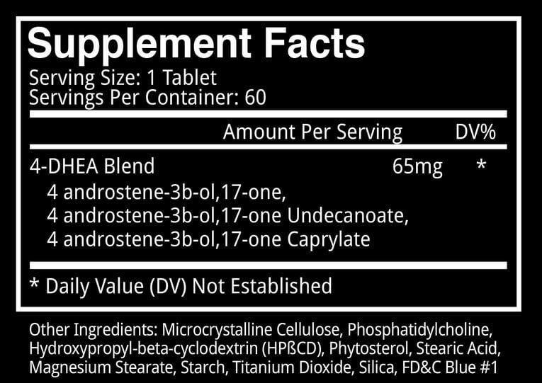 Brutal 4CE Supplement Facts