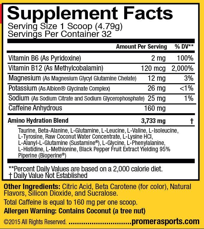 Amino-Tren Supplement Facts