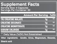 Creafreak Black Supplement Facts