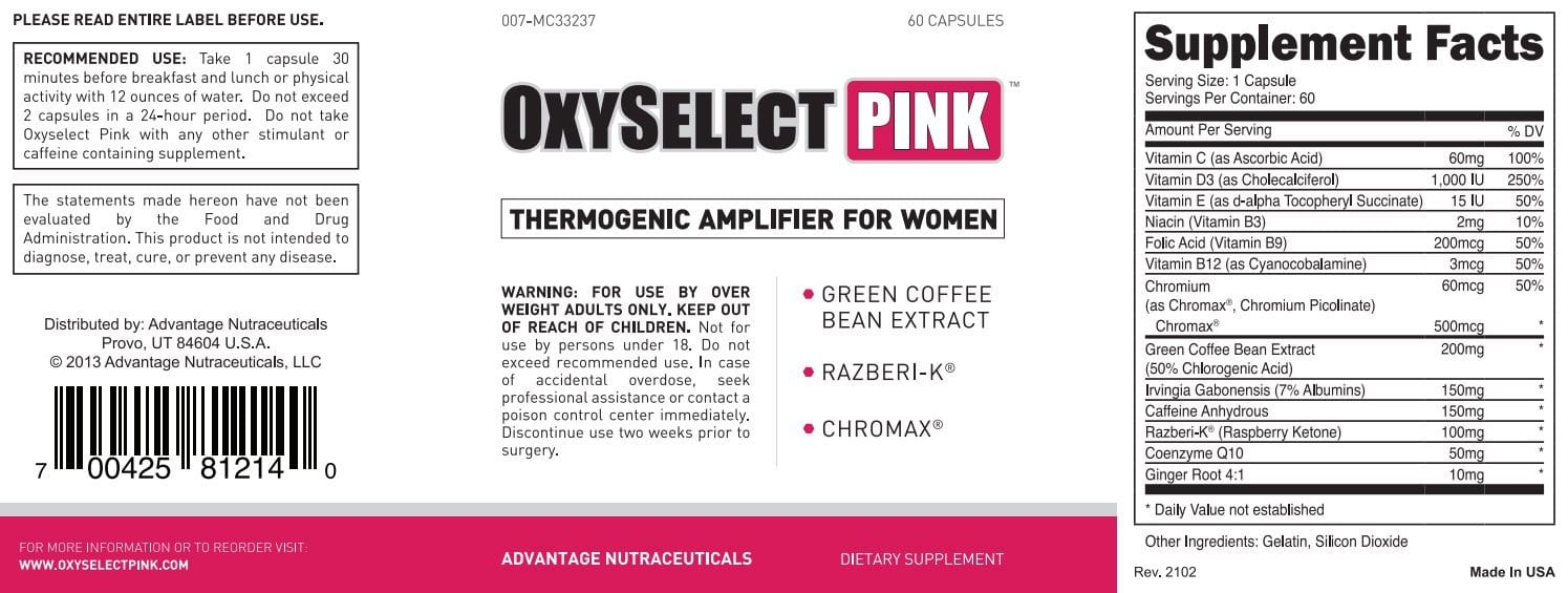 Oxyselect Pink Label