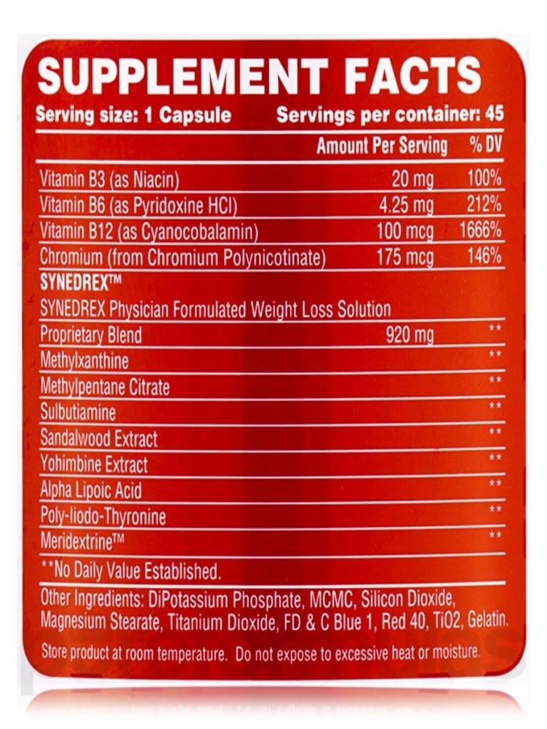 synedrex-ingredients