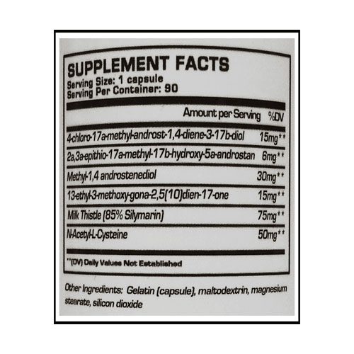 testplex450ingredientlabel
