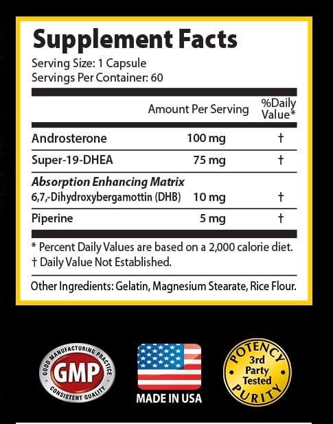 Spartan Mass Supplement Facts