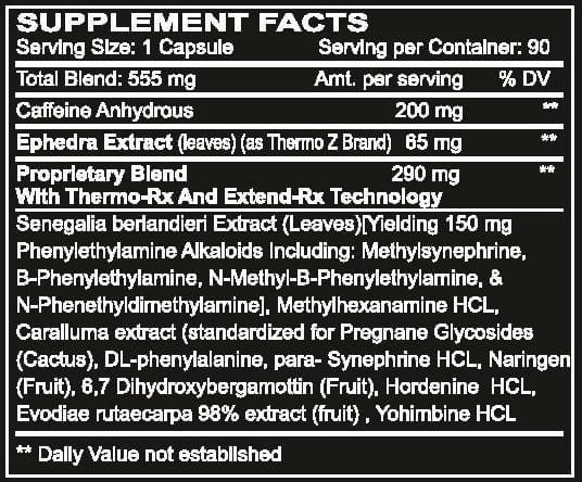 Black-Mamba-Hyperrush-Supplement-Facts