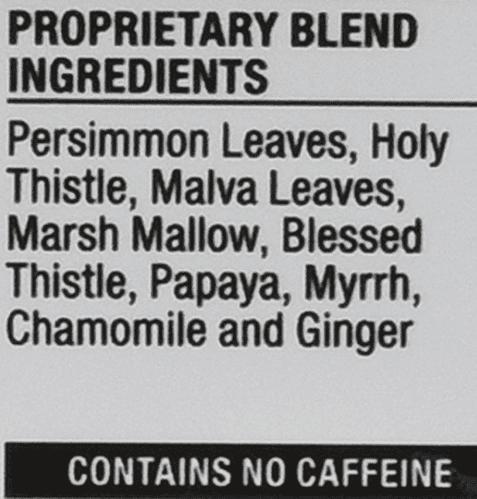 Iaso Tea Supplement Facts