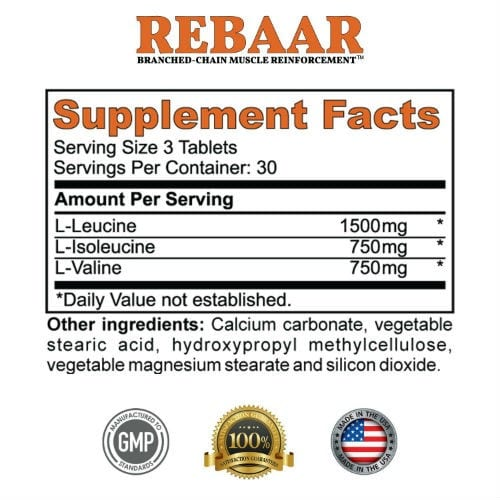 REBAAR Supplement Facts