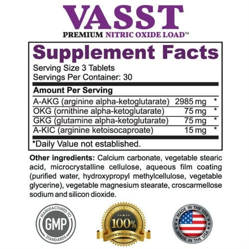Vasst Supplement Facts