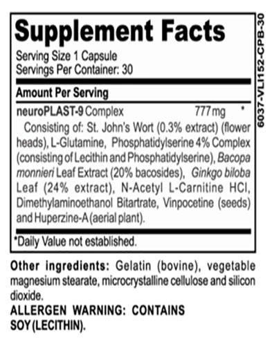 Vivvid Ingredients Label