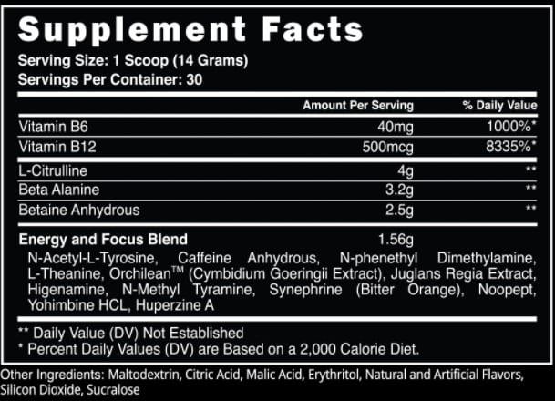 CHARGED-AF Ingredients